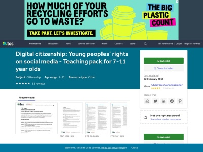 Screenshot of Digital Citizenship:  Young people's rights on Social Media