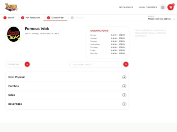 Famous Wok - Ada Food Delivery | Texoma Delivery