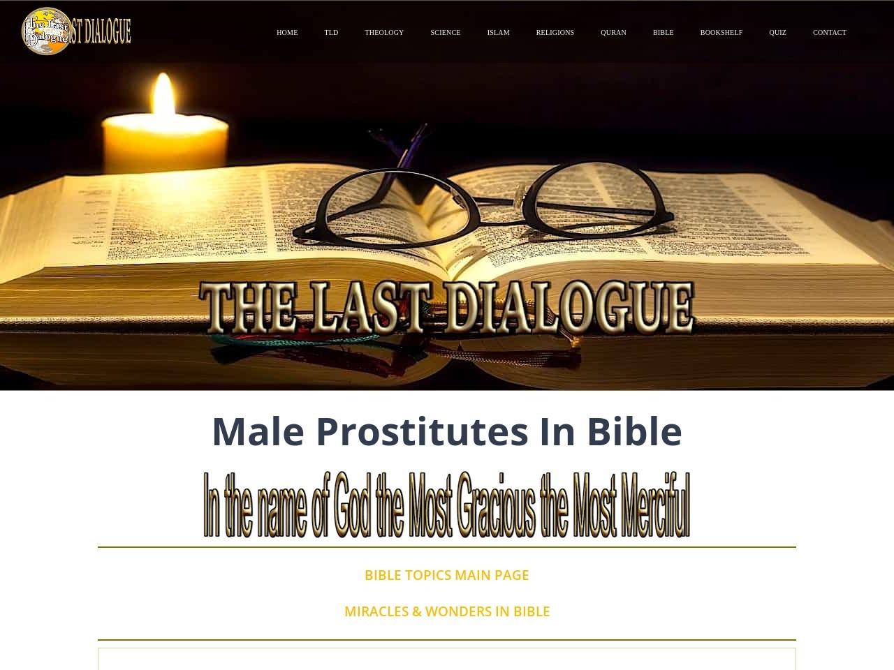 Male Cult Prostitutes