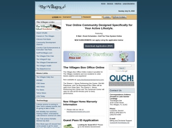 TheVillages.net - Login - Email, tee-times, computer support ...