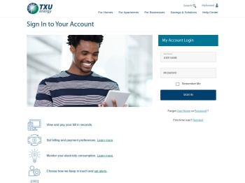 Sign In to Your Account | TXU Energy