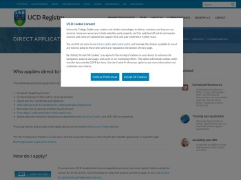 Applying   UCD Registry - University College Dublin