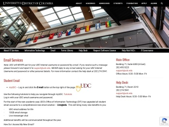 Email | University of the District of Columbia - UDC