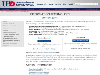 Office 365 (O365) | University of Houston-Downtown
