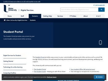 Student Portal - Ulster University ISD