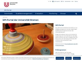 QM-Portal der Universität Bremen - Universität Bremen