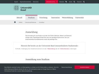 Anmeldung   Universität Basel