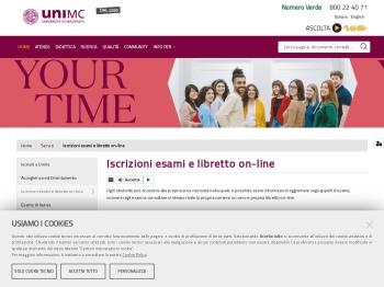 Iscrizioni esami e libretto on-line - Università di Macerata