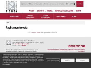 accedi a... - Milano-Bicocca