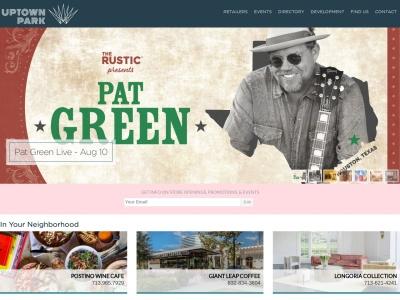 screenshot of Uptown Park's homepage