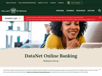 DataNet Online Banking | Valley Strong Credit Union