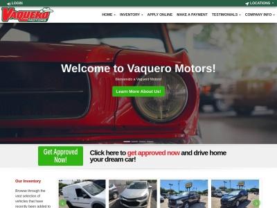 screenshot of Vaquero Motors's homepage