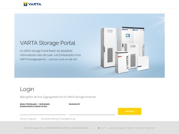 VARTA Storage Portal