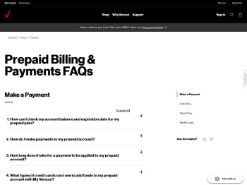 Prepaid Billing & Payments FAQs - Monthly fees & refill cards