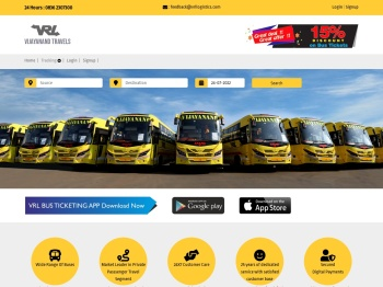 VRL TRAVELS - MOBILE BOOKING SITE