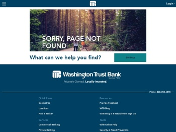 Log In to Online Accounts | Support | Washington Trust Bank