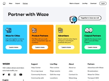Partner with Waze for Live Maps and traffic updates
