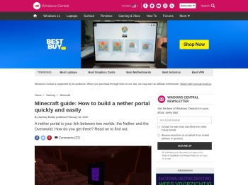 Minecraft guide: How to build a nether portal quickly and ...