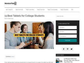 10 Best Tablets for College Students - WorldofTablet.com
