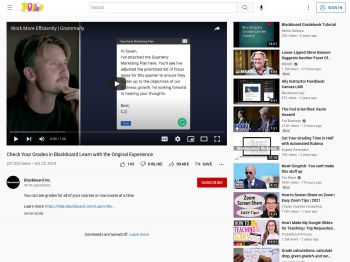 Check Your Grades in Blackboard Learn with the... - YouTube