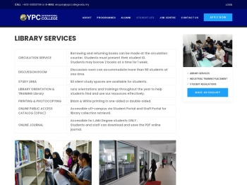 Library Services   YPC International College