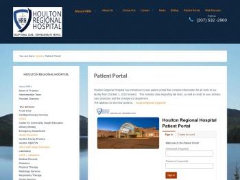 Patient Portal - Houlton Regional Hospital