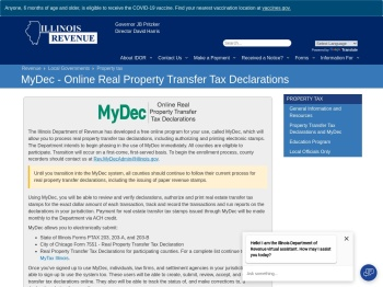 MyDec - Online Real Property Transfer Tax ... - Illinois.gov