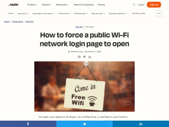 How to force a public Wi-Fi network login page to open - Zapier
