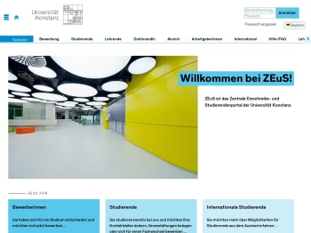 - ZEUS - Studierendenportal der Universität Konstanz