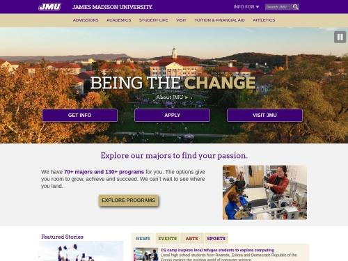 James Madison University - JMU Homepage