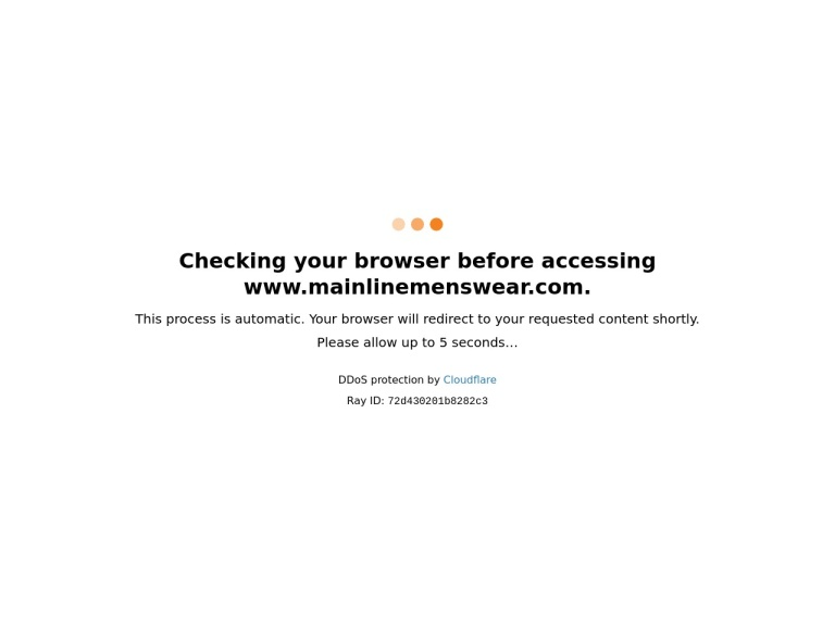 mainlinemenswear.com screenshot