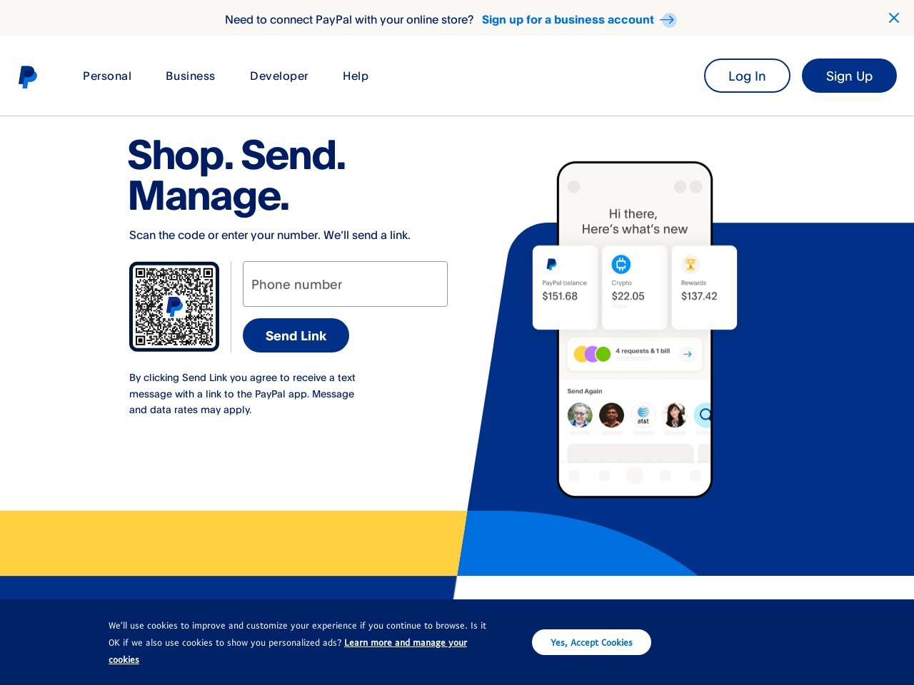 Webthumbnail paypal.com