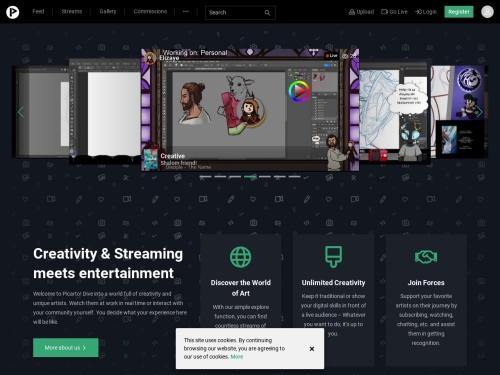 Picarto.TV - Creative live streaming service