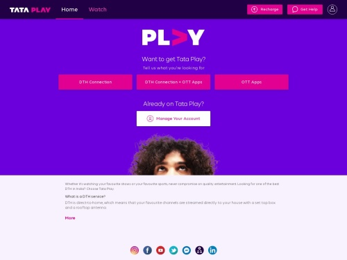 Best DTH(Direct To Home) Service Provider in India, New HD/SD Digital Set Top Box Connections | Tata Sky