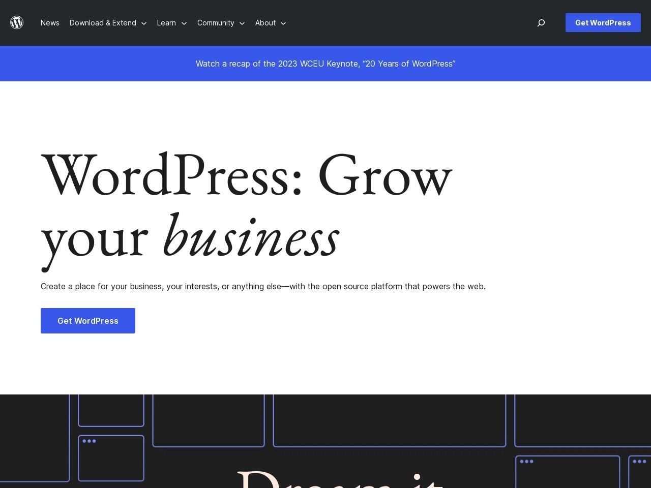 Webthumbnail wordpress.org