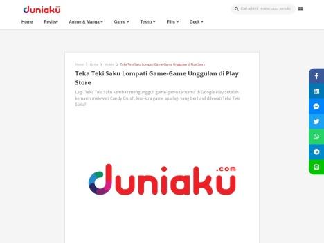 Teka Teki Saku Lompati Game-Game Unggulan di Play Store