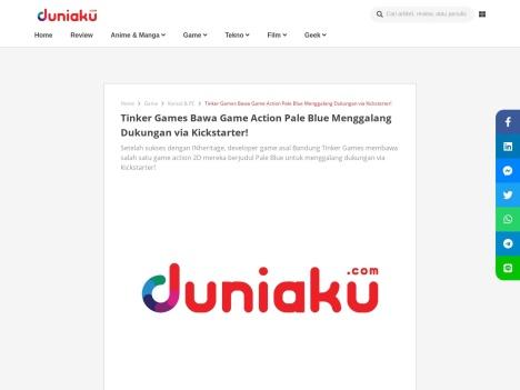Tinker Games Bawa Game Action Pale Blue Menggalang Dukungan via Kickstarter!