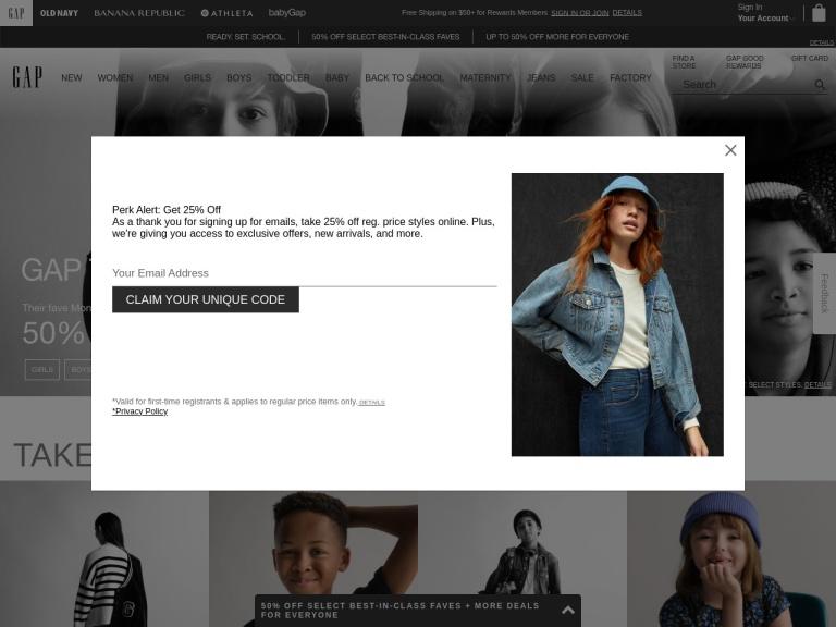 Gap screenshot