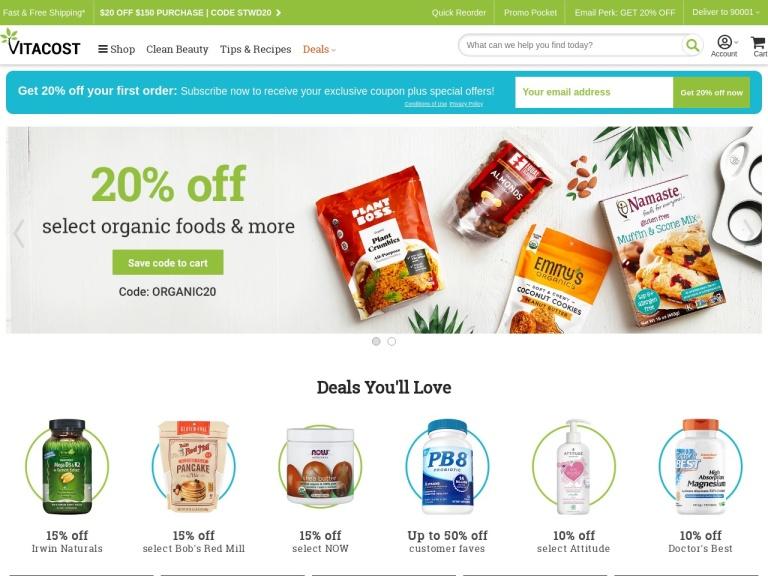 Vitacost.com screenshot